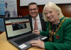 Councillor Maggi Clark, Mayor of Rotherham launches VisitRotherham.com